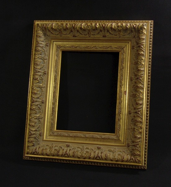 Bilderrahmen - Holz - Stuck - Gold - 34 x 40 cm