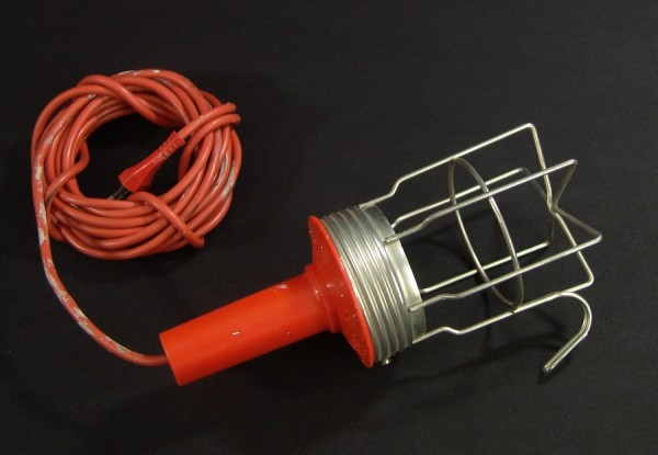 Industriedesign 70er Jahre Arbeitslampe - Orange