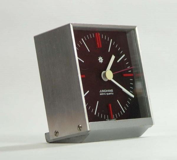 Junghans Astro Quartz Tischuhr - 70er Jahre - Aluminiumgehäuse