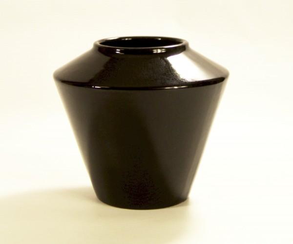 Schwarze Scheurich Keramik Vase - 50er Jahre - 507-15 West Germany
