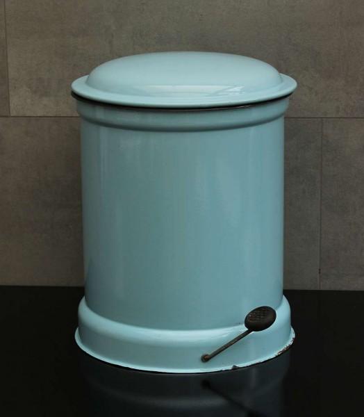 50er Jahre Abfalleimer - Blau emailiert