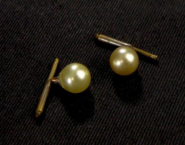 Vintage Manschettenknöpfe ~ 1950 - Perlen