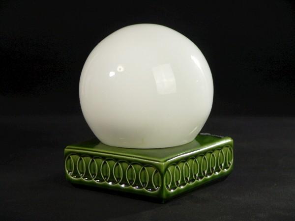70er Jahre Lindner Wandlampe - Deckenlampe - Keramik - Glaskugel - grün