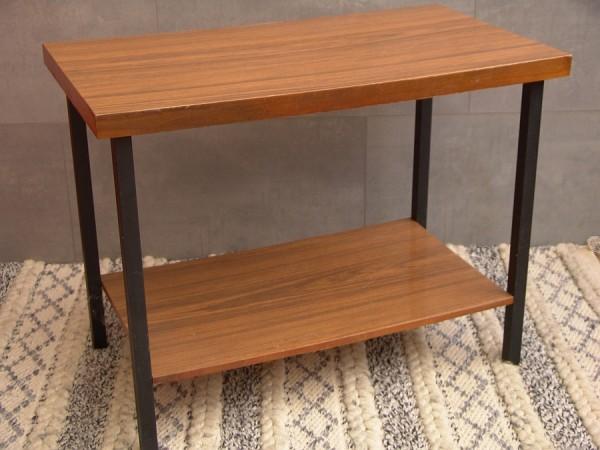 60er Jahre Beistelltisch - TV - Tisch - Phono - Regal