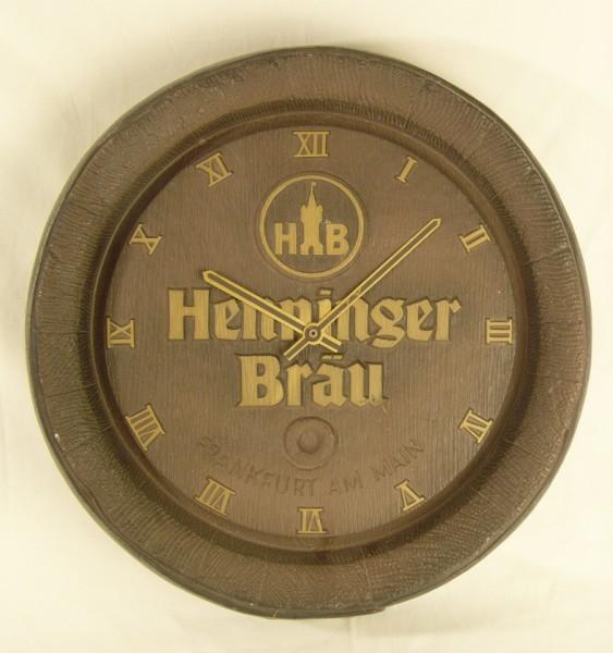 Brauerei Deko Fassboden - Deckel - Henninger Bräu - mit Uhr