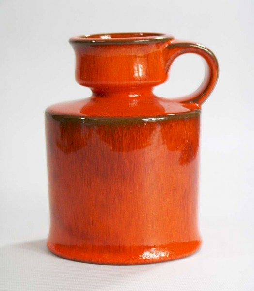 70er Jahre Keramik Vase - Orange