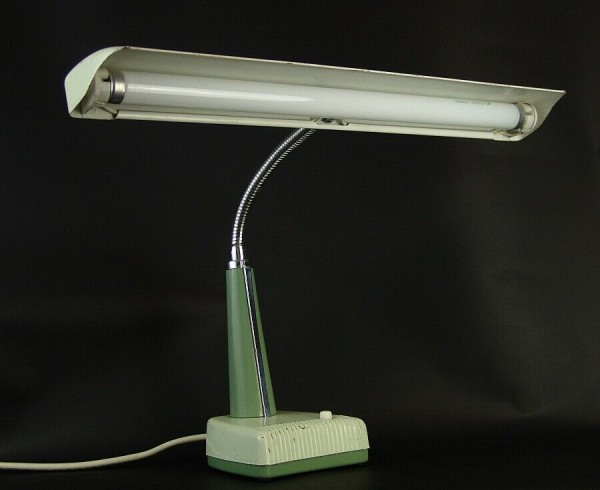50er Jahre NATIONAL Tischlampe - Neon - Schwanenhals