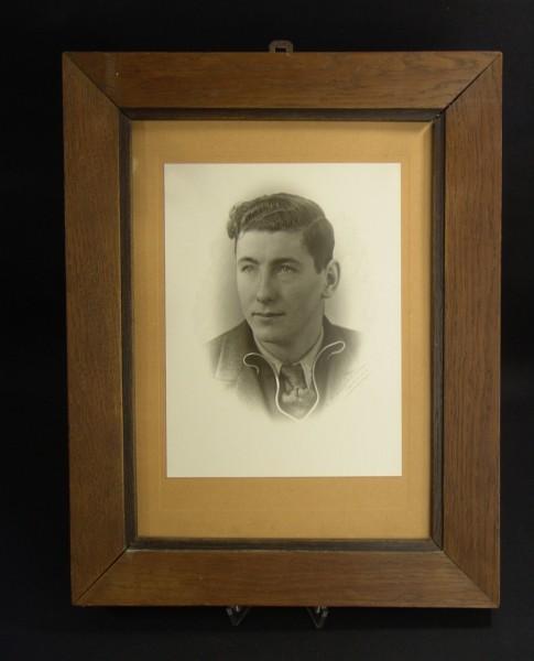 Antiker Bilderrahmen um 1920 - Eiche - 32,5 x 41,5 cm