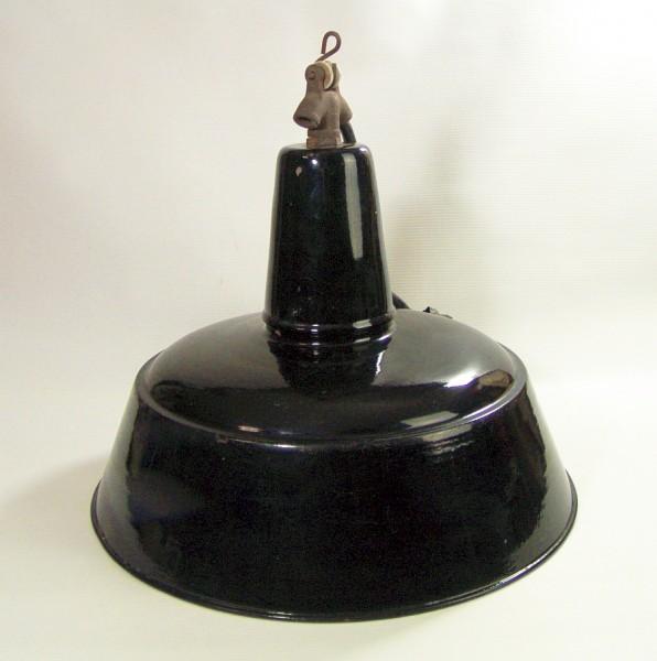 Emailierte Fabriklampe - schwarz - E40